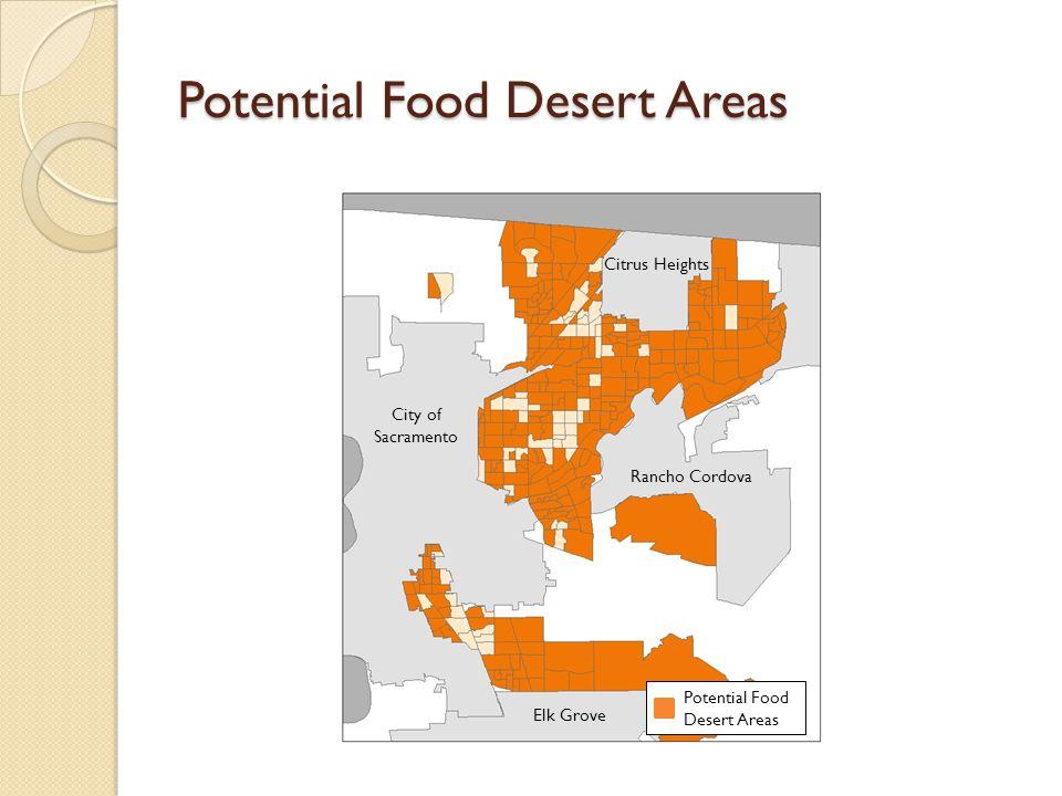 Potential Food Desert Areas