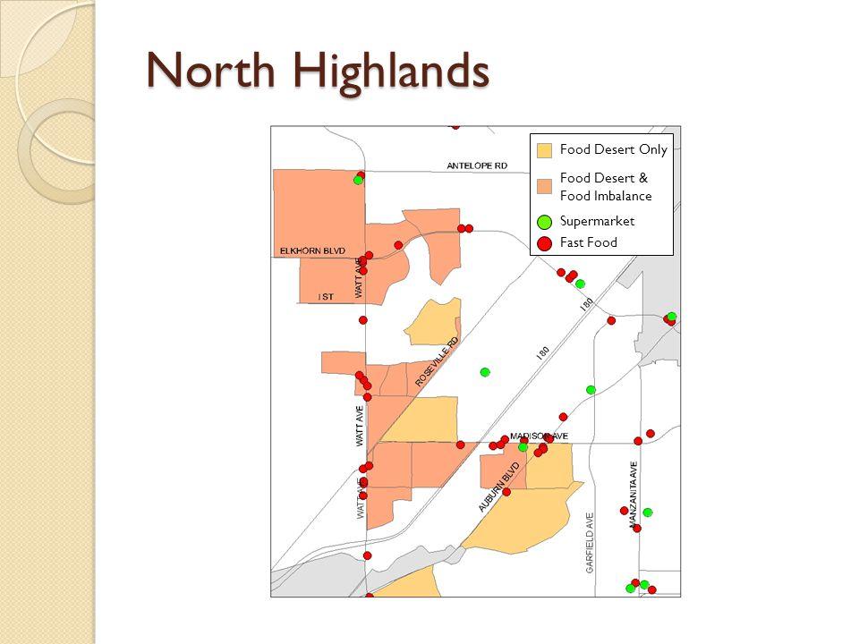 North Highlands Food Desert Only Food Desert & Food Imbalance