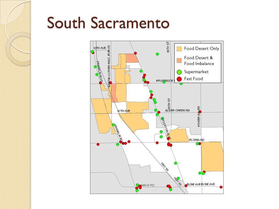 South Sacramento Food Desert Only Food Desert & Food Imbalance