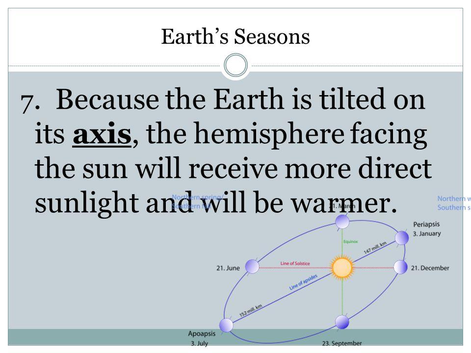 Earth's Seasons 7.