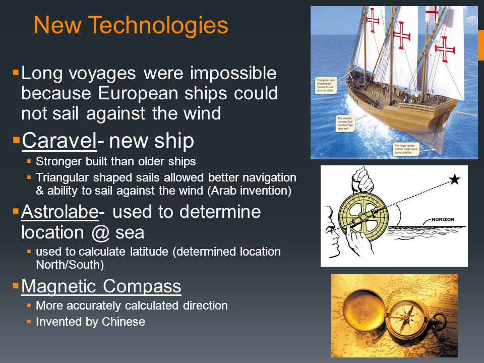 New Technologies Caravel- new ship