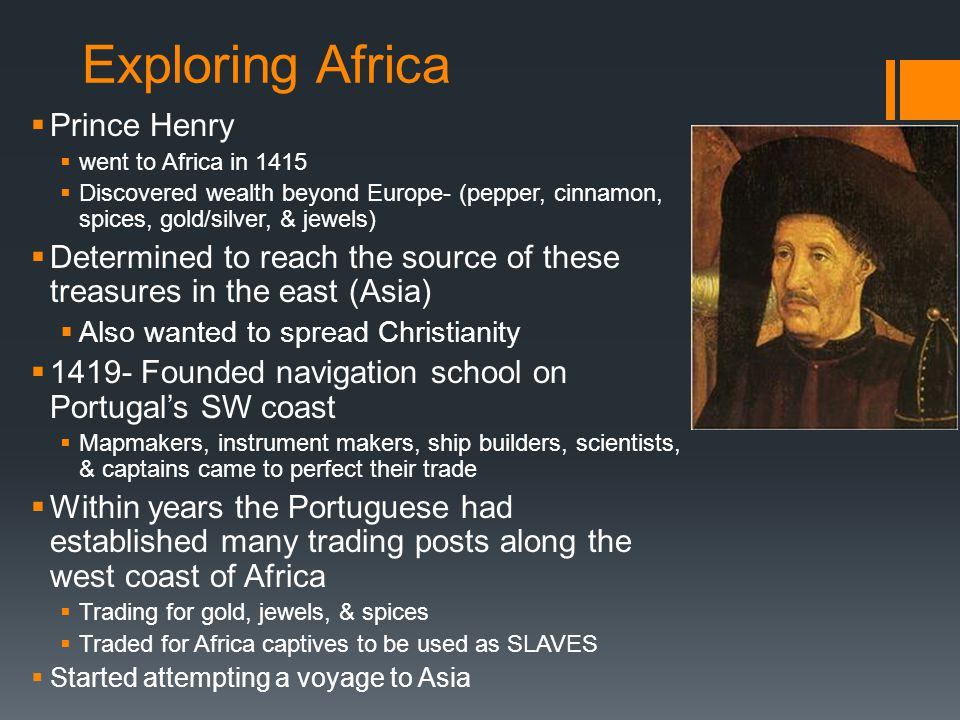 Exploring Africa Prince Henry