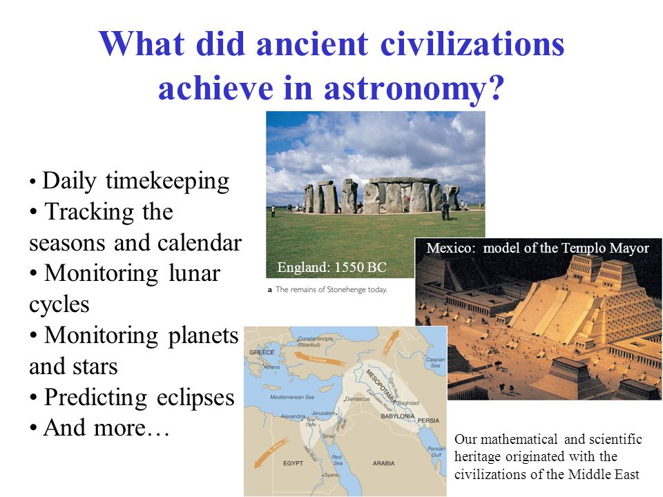 What did ancient civilizations achieve in astronomy