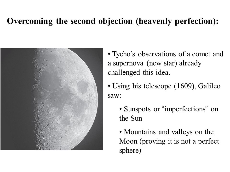 Overcoming the second objection (heavenly perfection):