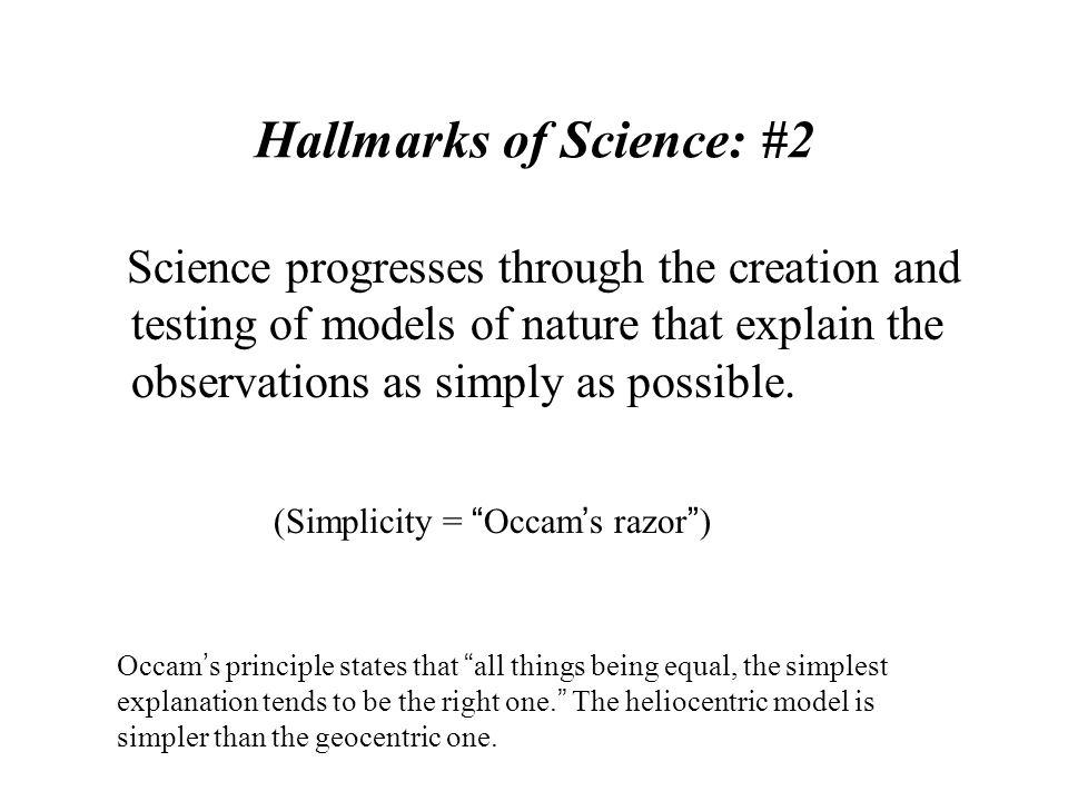 Hallmarks of Science: #2