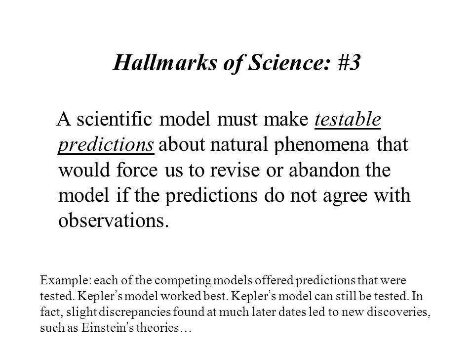 Hallmarks of Science: #3