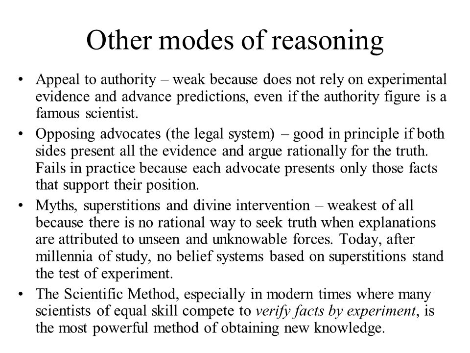 Other modes of reasoning