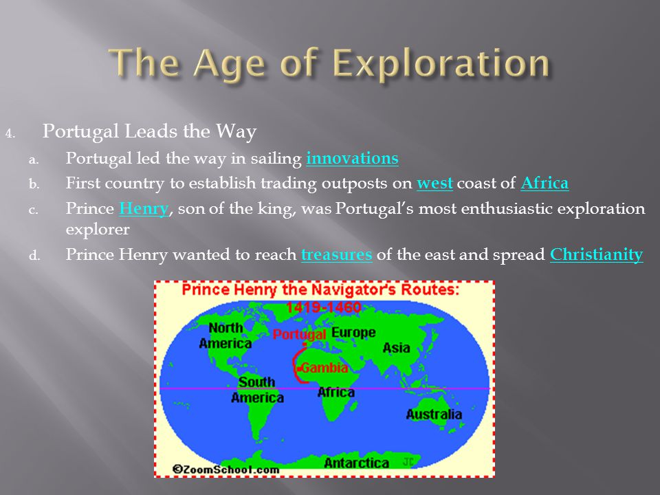 The Age of Exploration Portugal Leads the Way