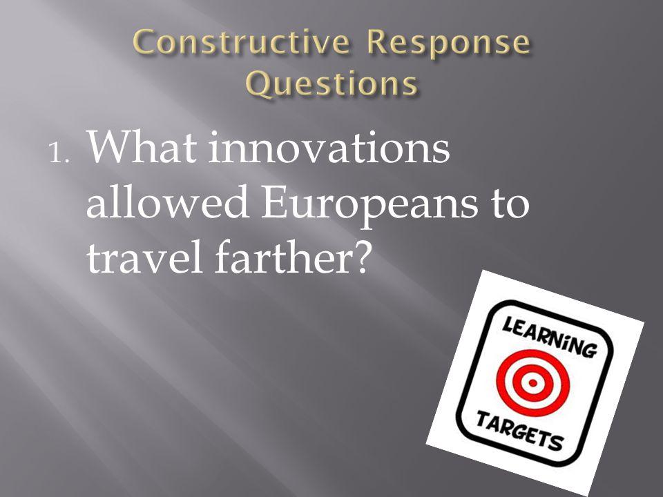 Constructive Response Questions