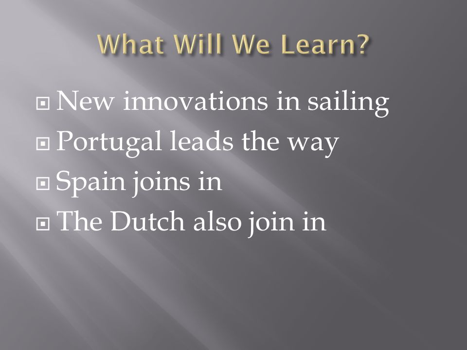 New innovations in sailing Portugal leads the way Spain joins in