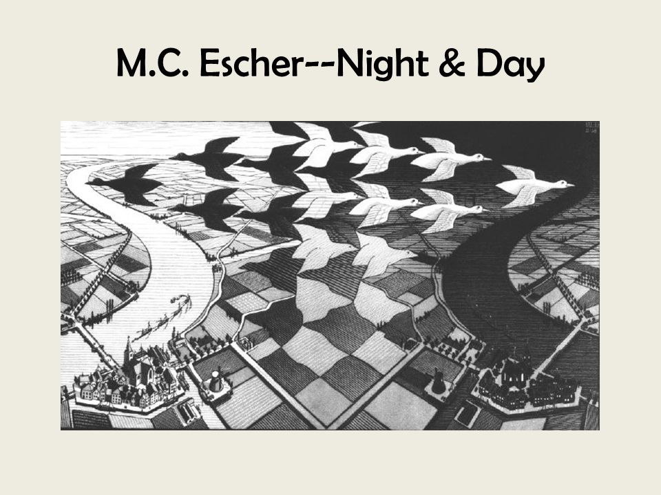M.C. Escher--Night & Day