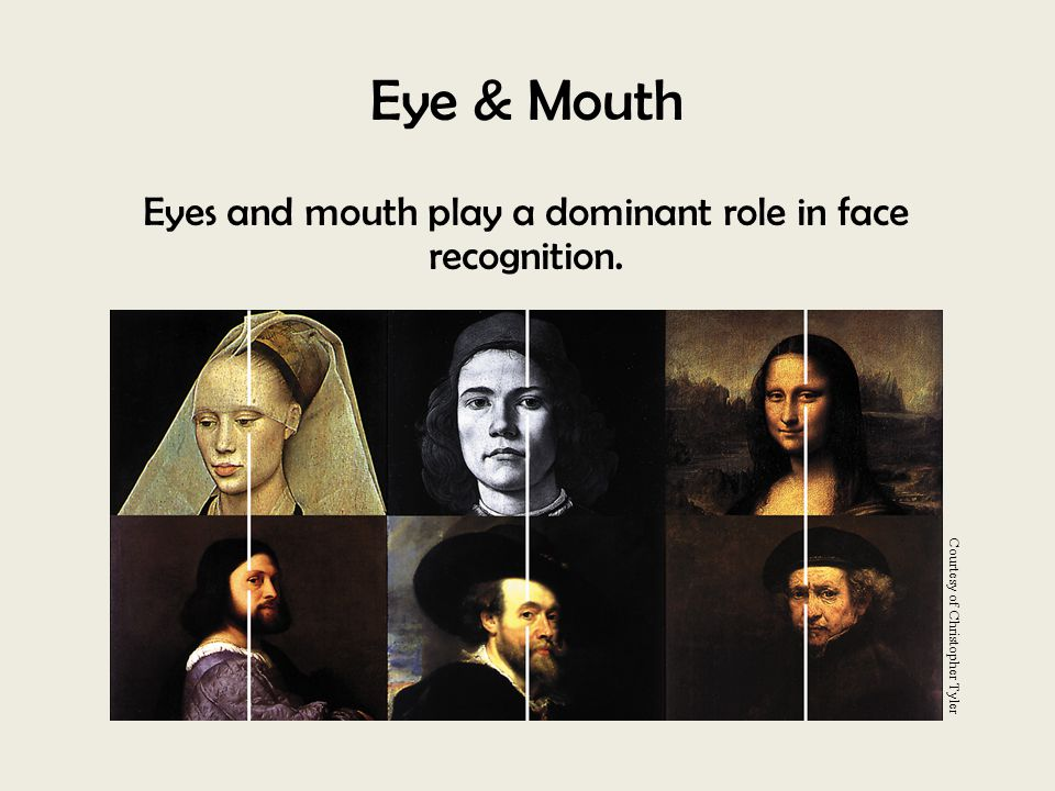 Eyes and mouth play a dominant role in face recognition.