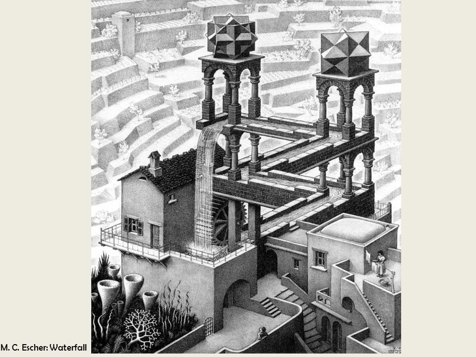 M. C. Escher: Waterfall