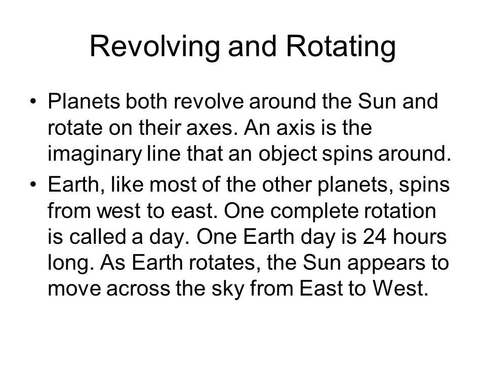 Revolving and Rotating