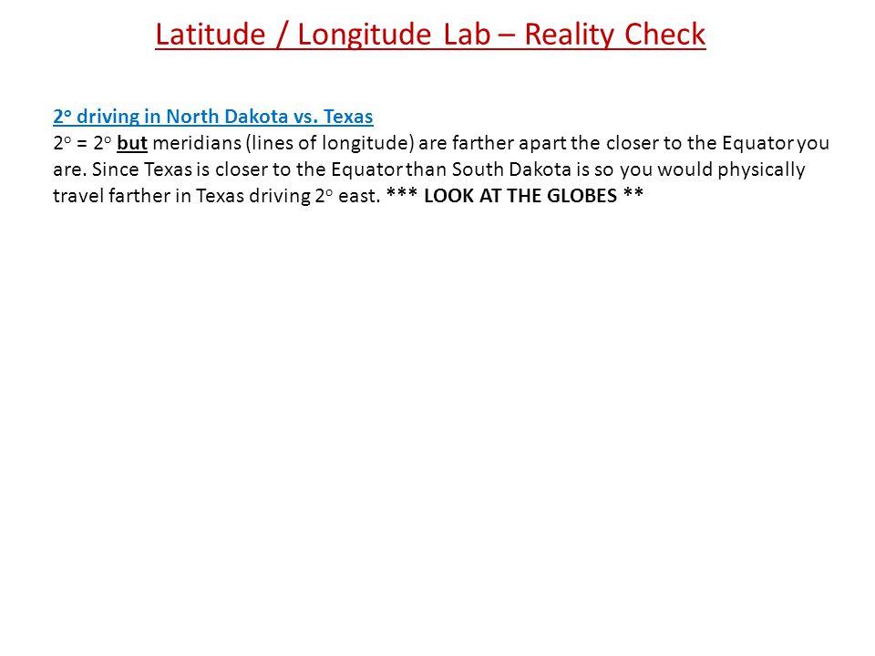 Latitude / Longitude Lab – Reality Check
