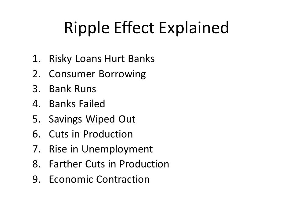 Ripple Effect Explained