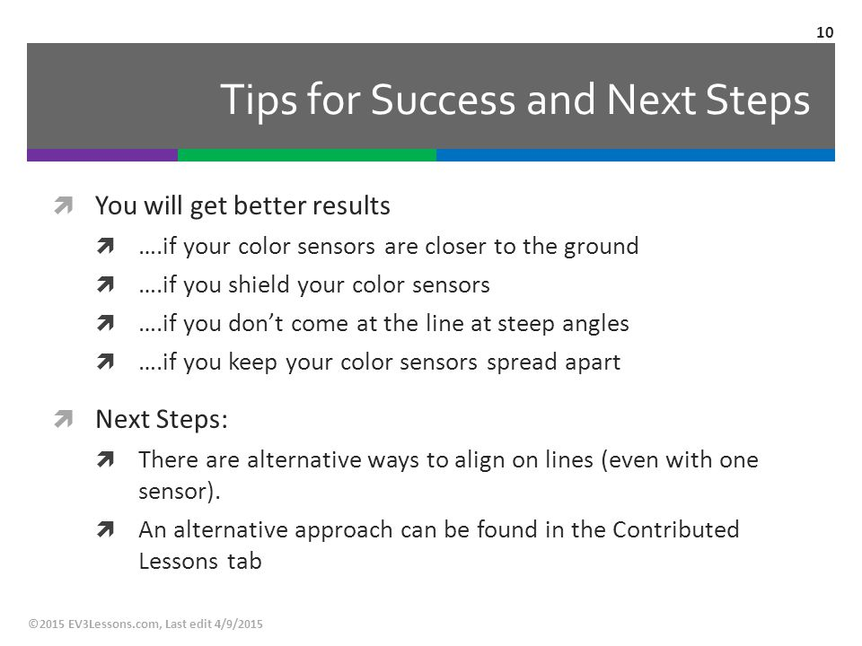 Tips for Success and Next Steps
