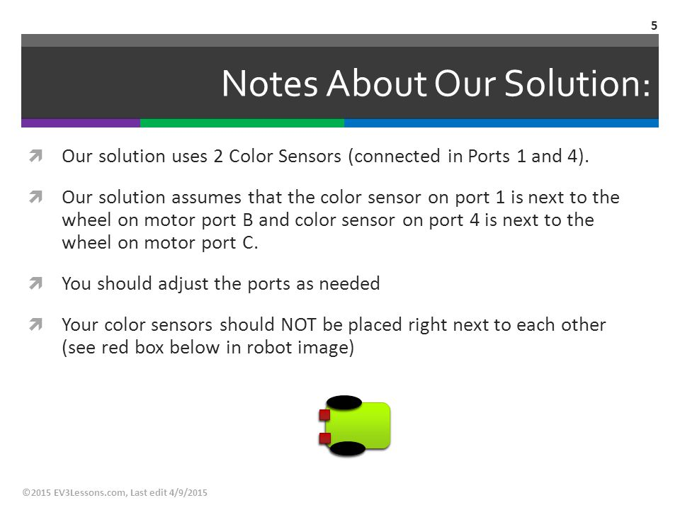 Notes About Our Solution: