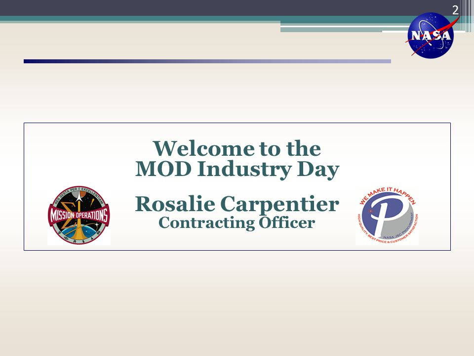 Welcome to the MOD Industry Day Rosalie Carpentier