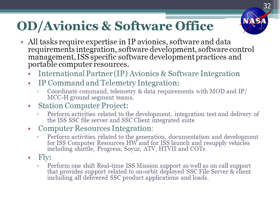 OD/Avionics & Software Office