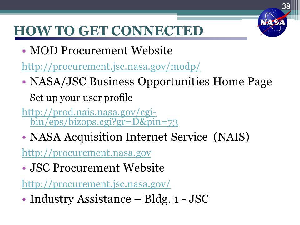 HOW TO GET CONNECTED MOD Procurement Website