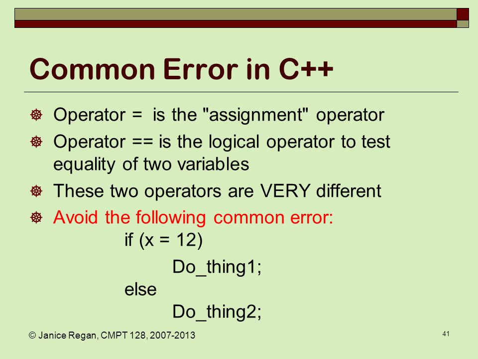 What actually happens Common Error in C and C++