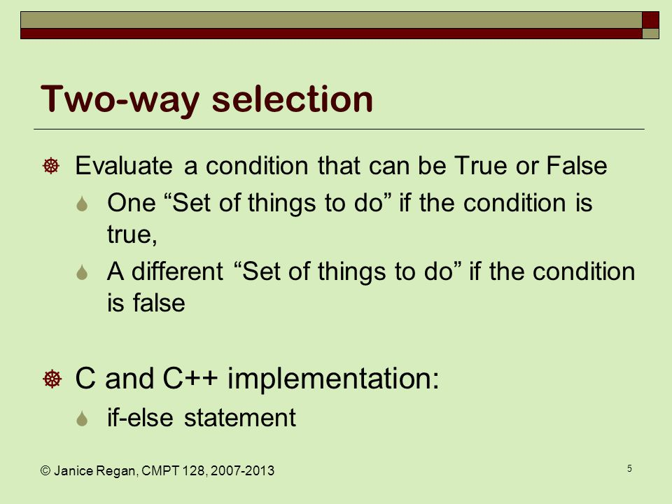 Multiple-way selection