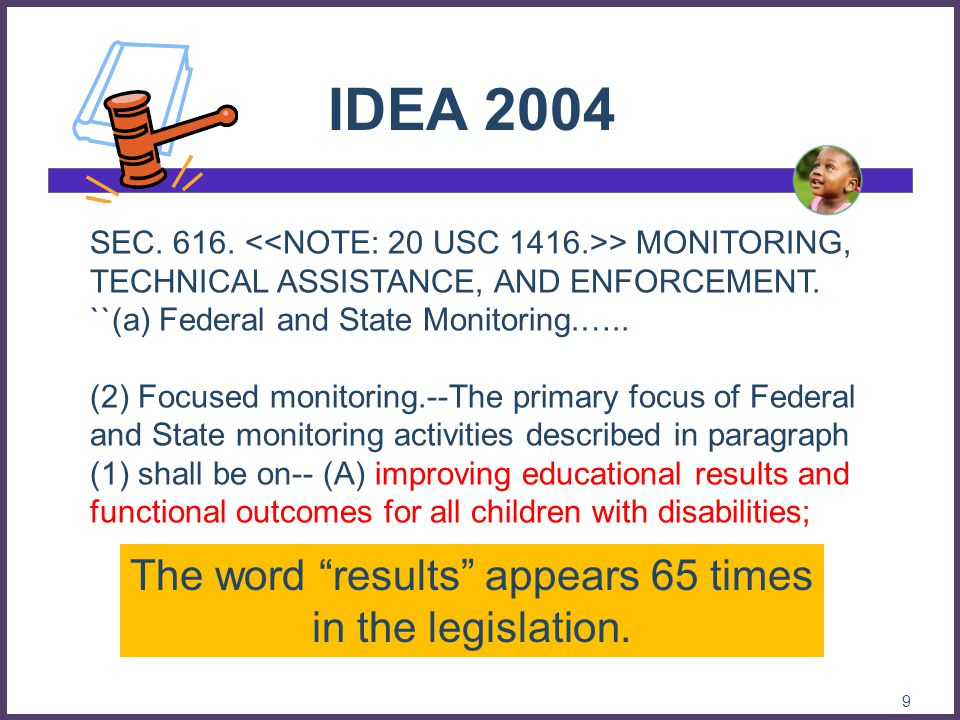The word results appears 65 times in the legislation.