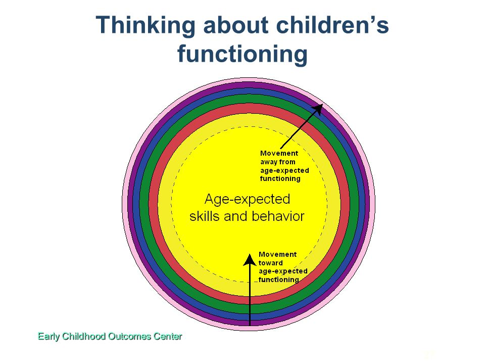 Thinking about children's functioning