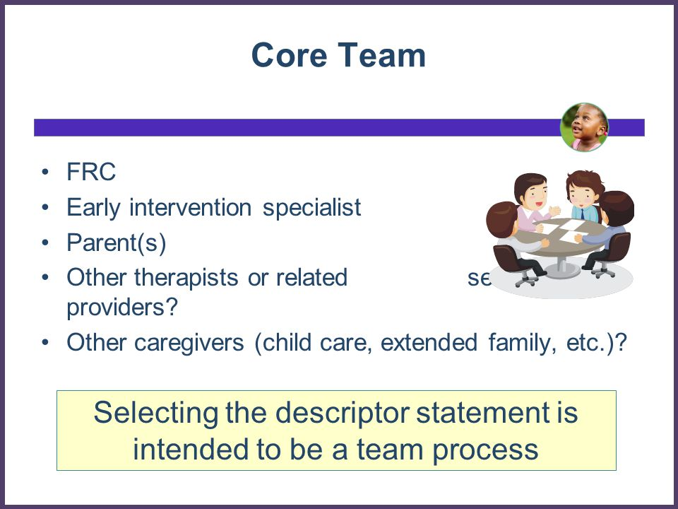 Selecting the descriptor statement is intended to be a team process