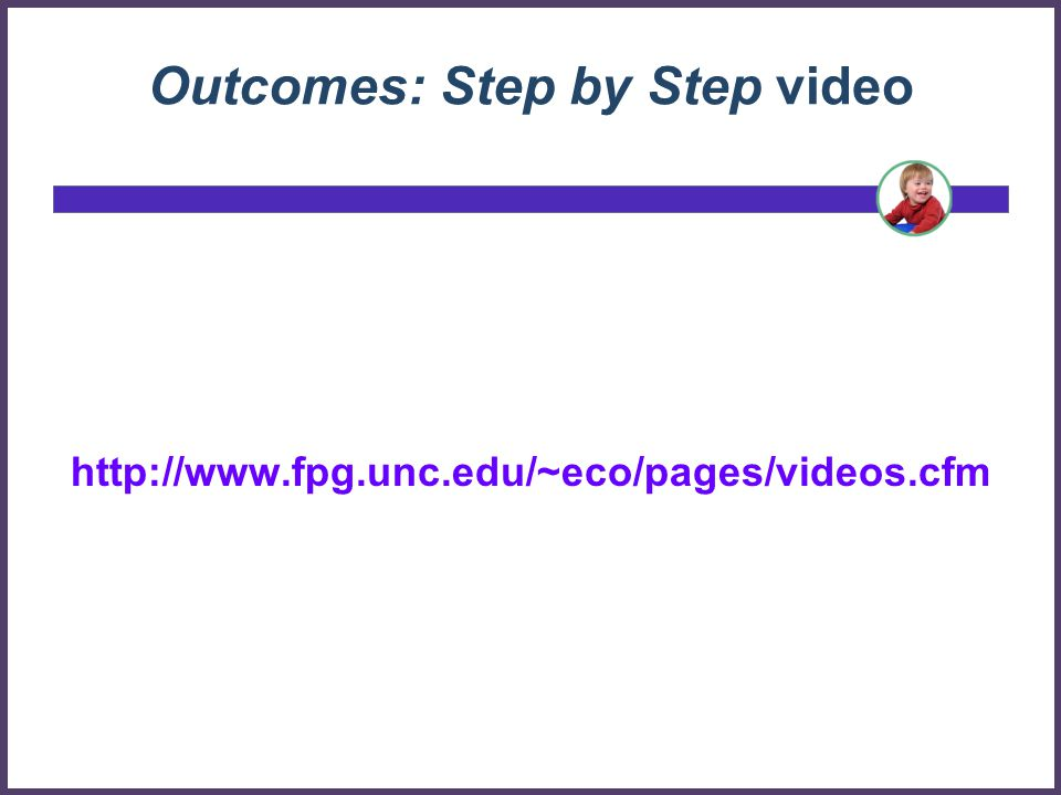 Outcomes: Step by Step video