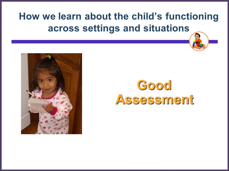 How we learn about the child's functioning across settings and situations