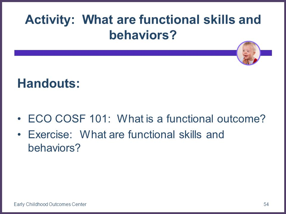 Activity: What are functional skills and behaviors