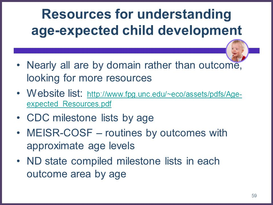 Resources for understanding age-expected child development