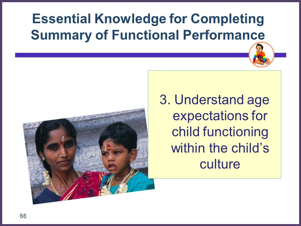 Essential Knowledge for Completing Summary of Functional Performance