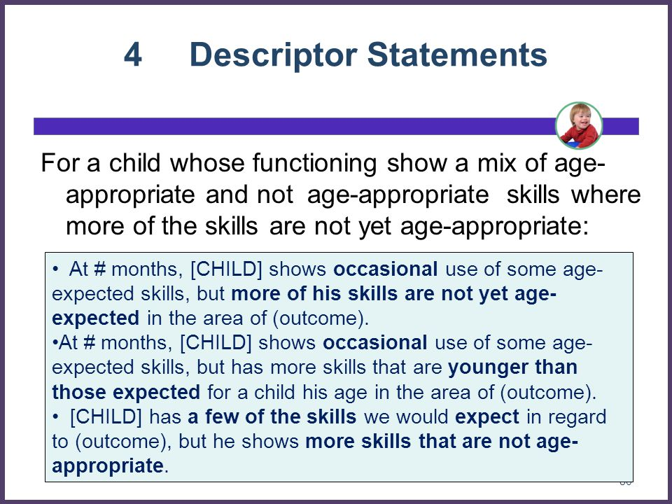 4 Descriptor Statements
