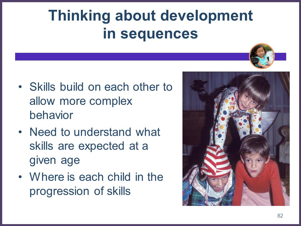 Thinking about development in sequences
