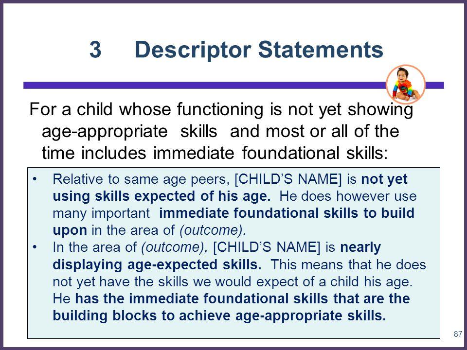 3 Descriptor Statements