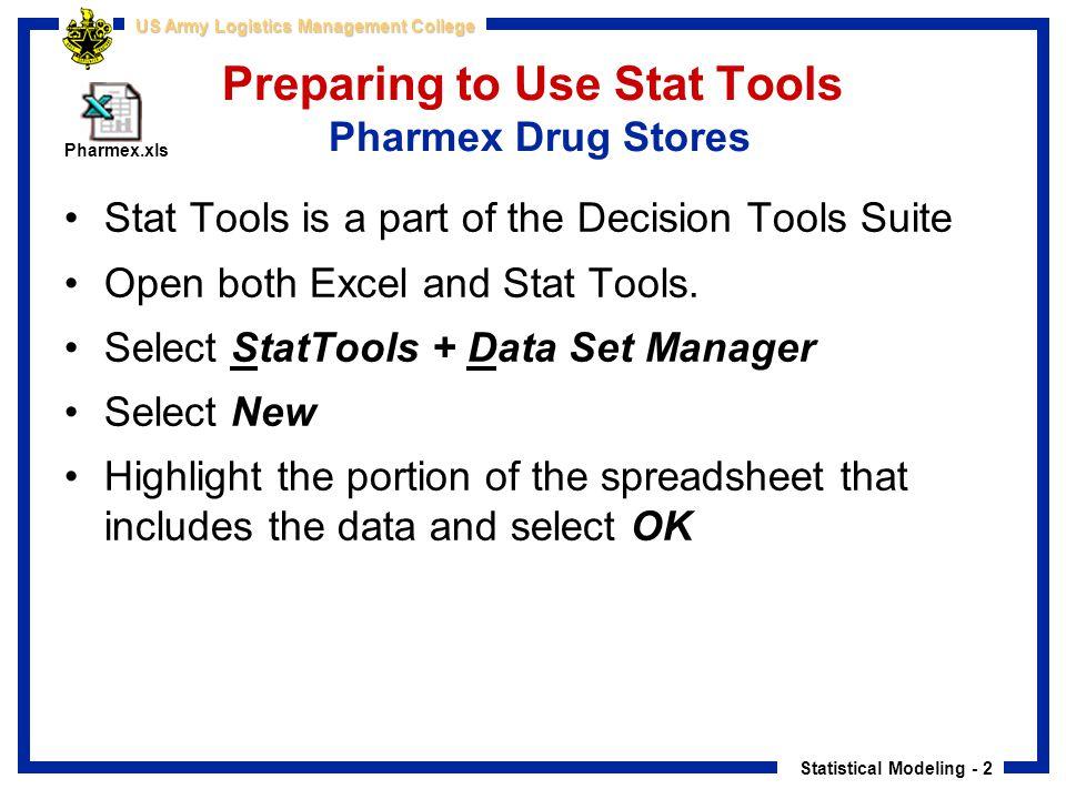 Preparing to Use Stat Tools Pharmex Drug Stores