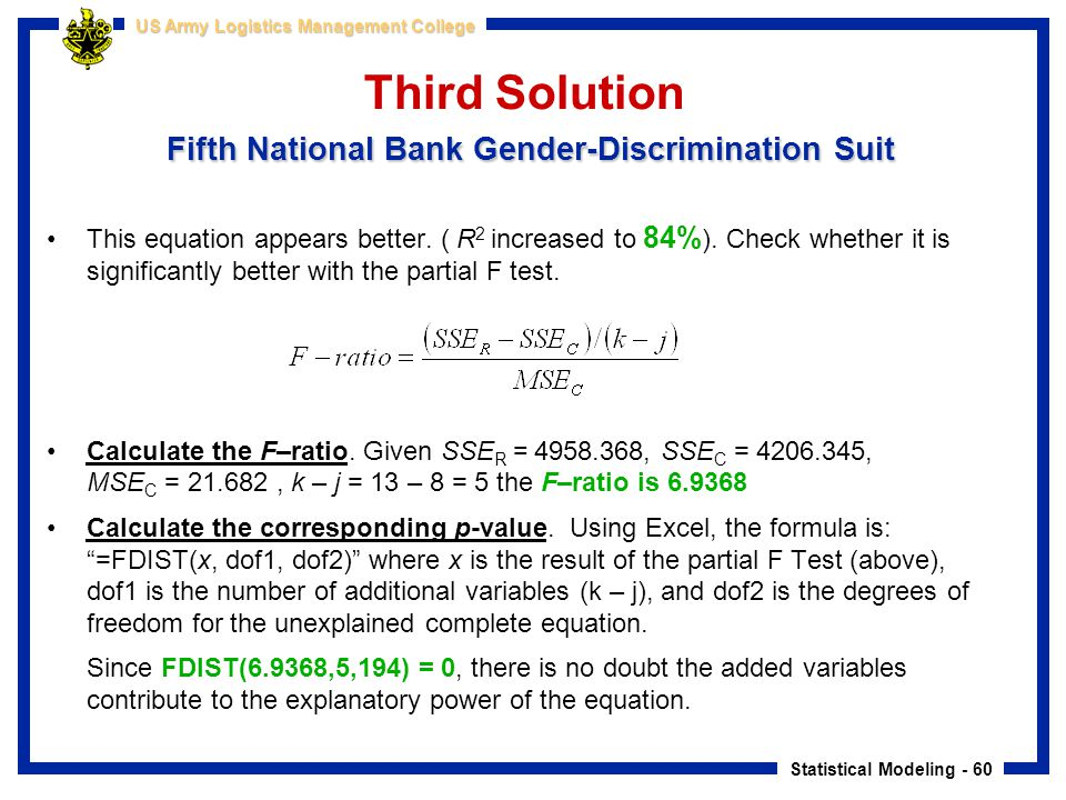 Third Solution Fifth National Bank Gender-Discrimination Suit