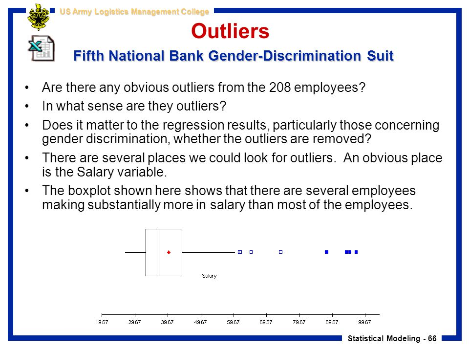 Outliers Fifth National Bank Gender-Discrimination Suit