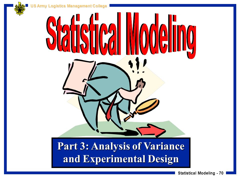 Part 3: Analysis of Variance and Experimental Design