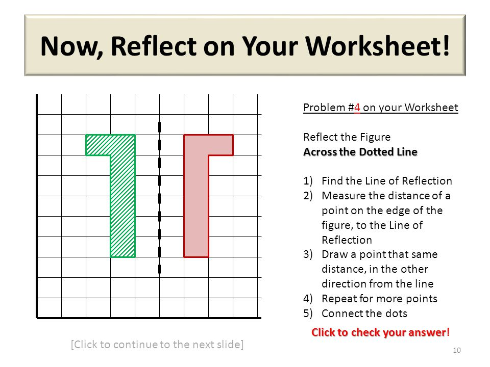 Now, Reflect on Your Worksheet!