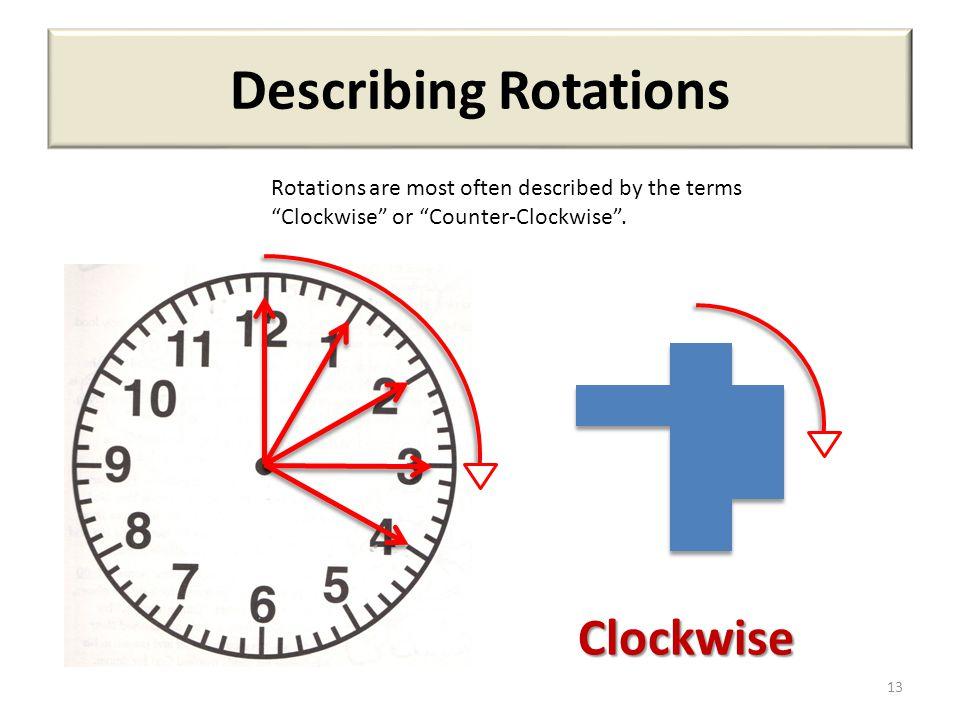 Describing Rotations Clockwise