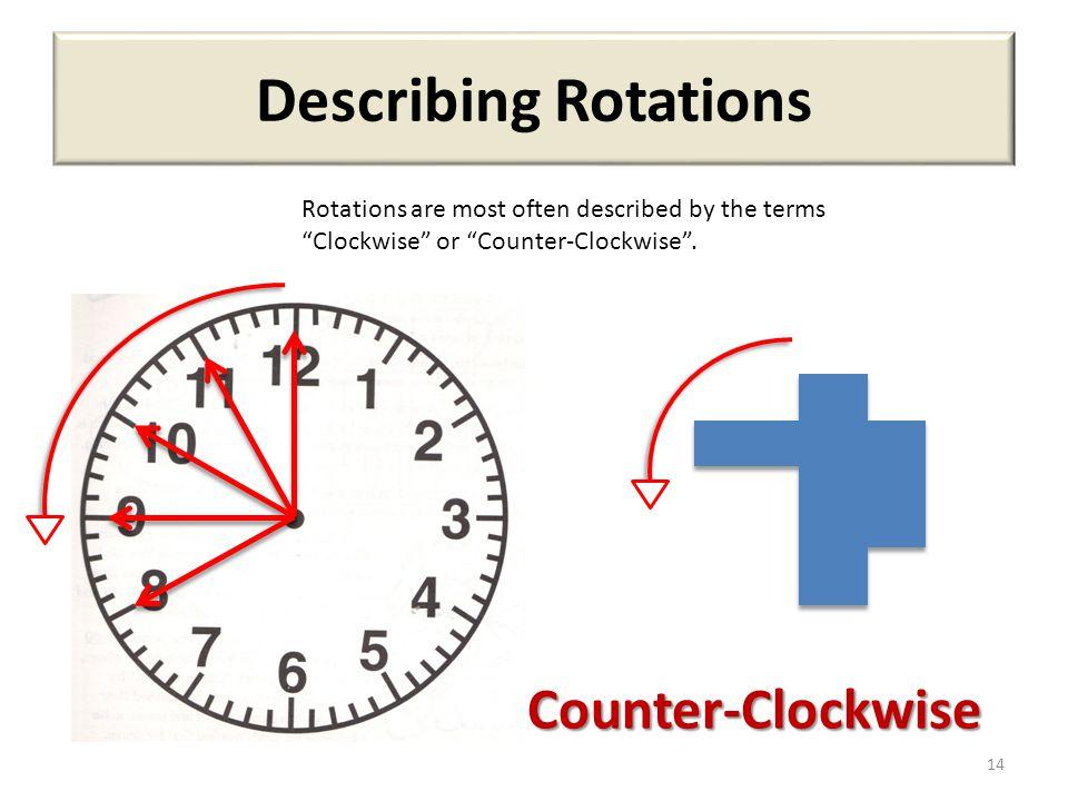 Describing Rotations Counter-Clockwise