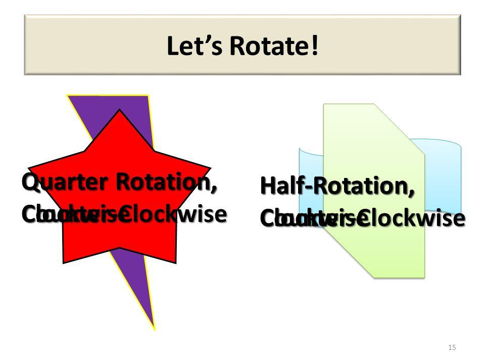 Let's Rotate! Quarter Rotation, Clockwise Quarter Rotation,
