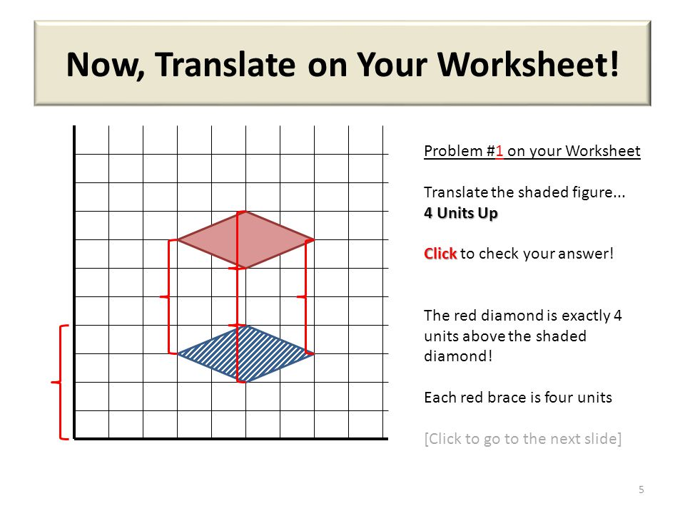 Now, Translate on Your Worksheet!