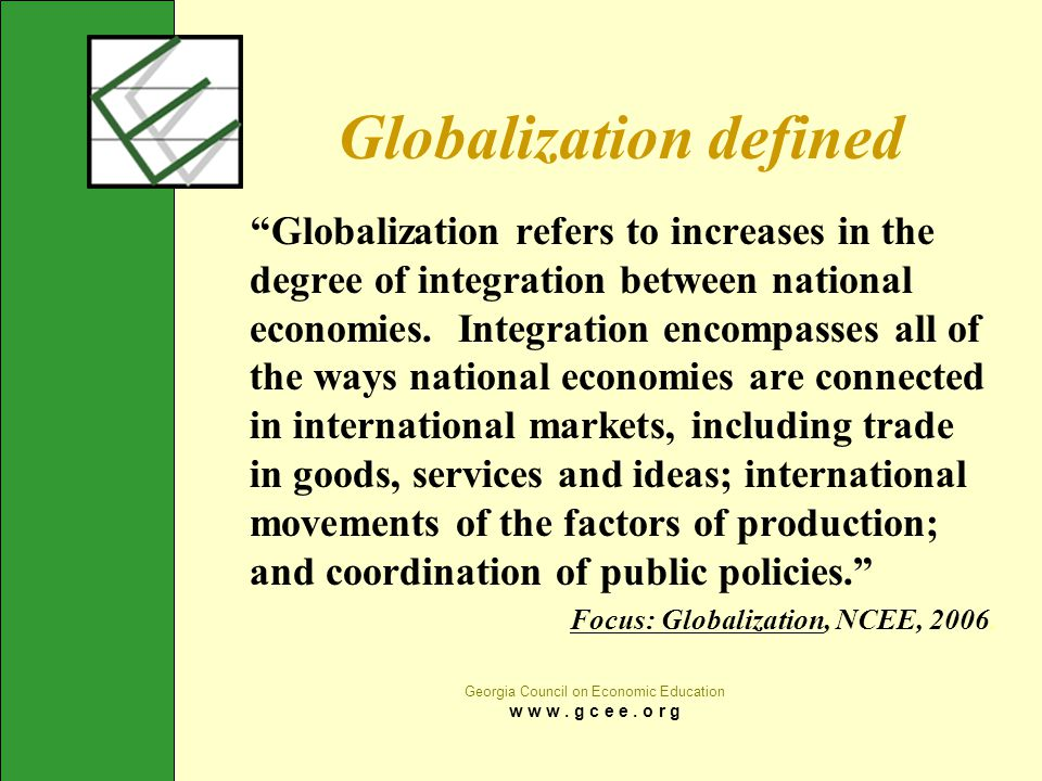 Globalization defined