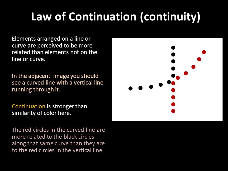Law of Continuation (continuity)