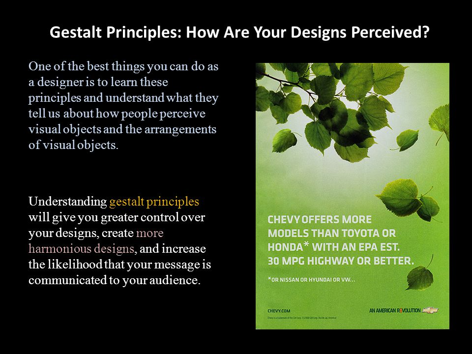 Gestalt Principles: How Are Your Designs Perceived